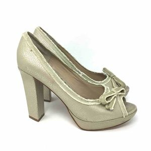 Juicy Couture Fresia Pumps Metallic Beige Gold 8.5